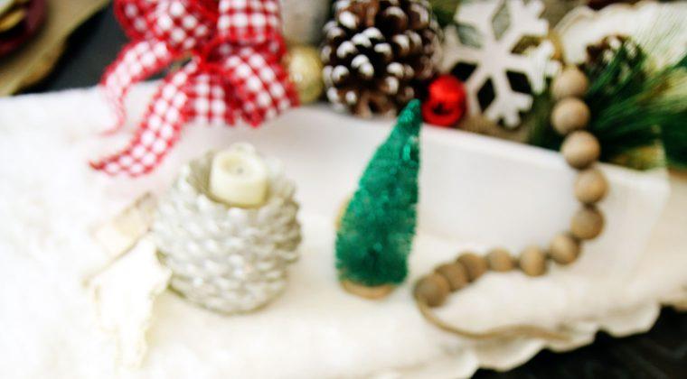 Farmhouse Holiday Tablescape {Christmas Festival Blog Hop}