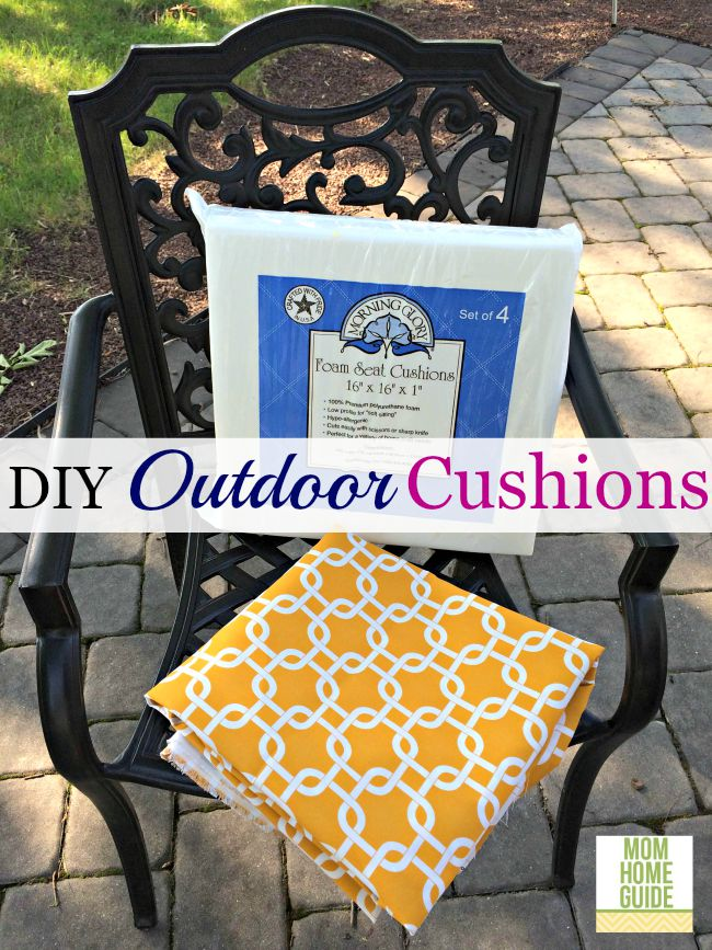 Diy Outdoor Seat Cushions, How To Make Seat Cushions For Outdoor Furniture