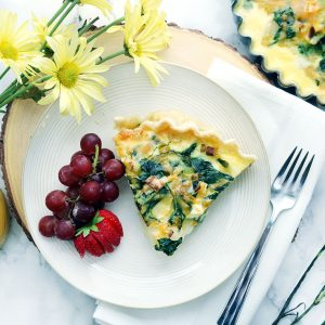 Delicious Layered Potato, Leek and Spinach Quiche Recipe