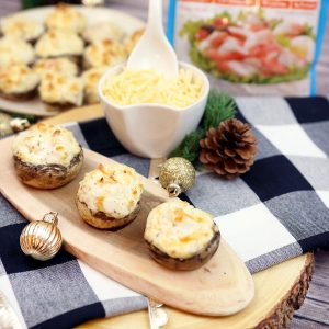 Hot and Bubbly Stuffed Mushrooms with Gouda and Crab
