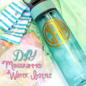 Monogrammed Water Bottle {Silhouette Cameo Vinyl Project}